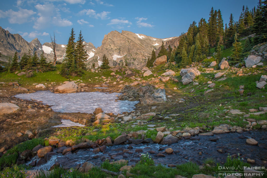 Navajo Peak and Shoshoni Peak, peaking out in the Indian Peaks Wilderness | Brainard Lake Recreation Area