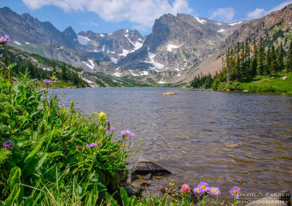 Lake Isabelle surrounded by Navajo Peak, Apache Peak, and Shoshoni Peak | Brainard Lake Recreation Area