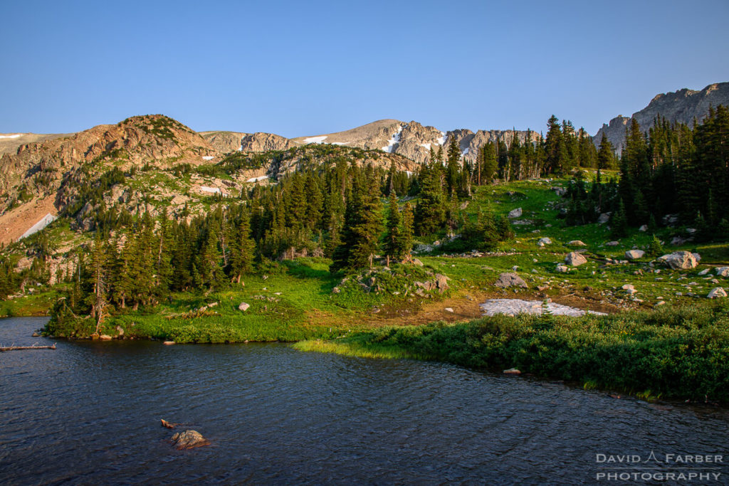 Above Lake Isabelle in the early morning | Brainard Lake Recreation Area