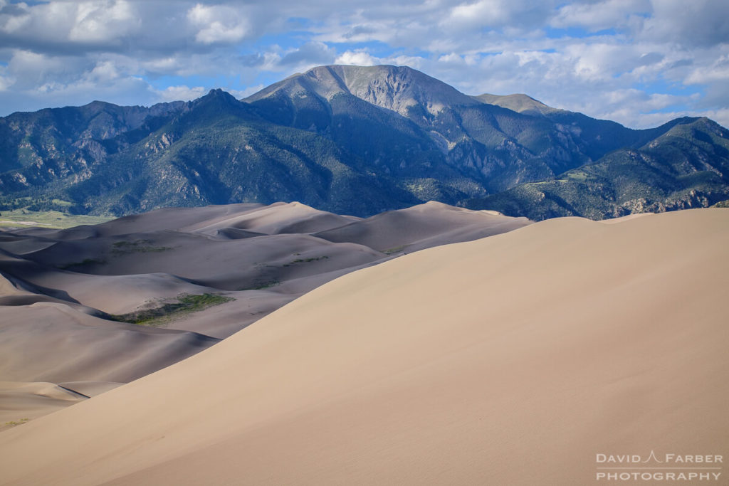 Mount Herard towers over the dunes | Great Sand Dunes National Park